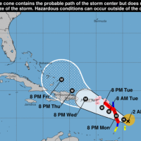 El huracán María pone otra vez en alerta las islas del Caribe